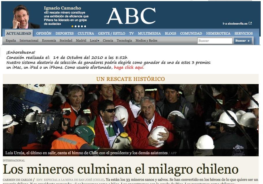 Rescate de los mineros en ABC