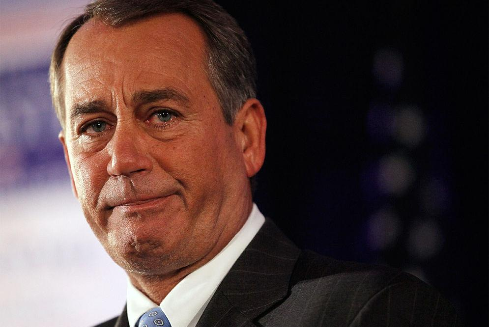 John Boehner, durante su discurso tras conocer los resultados de las elecciones.- AFP