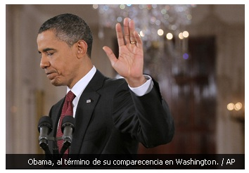 Obama, tras terminar su comparecencia en Washington