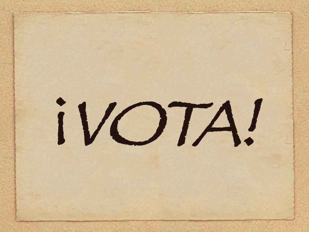 Simplemente, vota.