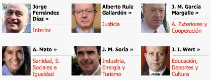 Los ministros de Rajoy. Fotografía de El País