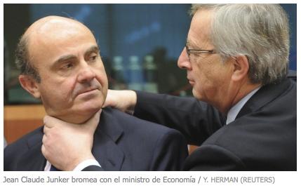 Fotografía de la portada de ElPaís.com. 12 de marzo 2012. 23:42 h. El Eurogrupo exige a España que ajuste su déficit en 2012 al 5,3% y no al 5,8%