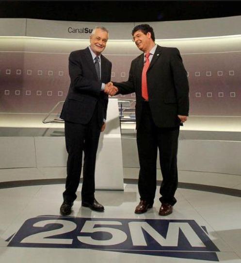 La ausencia de Arenas deja el debate a tres en un cara a cara de PSOE e IU. Fotografía de ElPaís.com