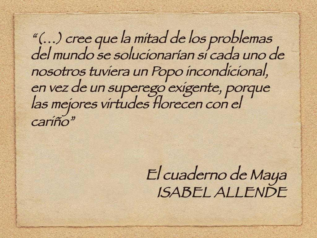 Pág. 291. El cuaderno de Maya, de Isabel Allende.