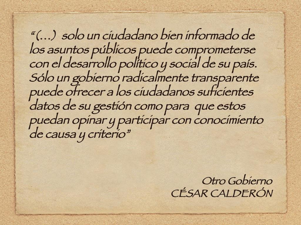 Pág. 39. Otro Gobierno, de César Calderón