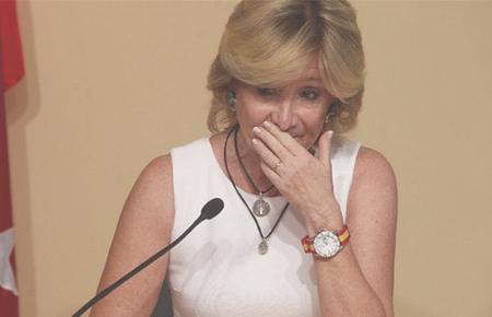 La dimisión de Aguirre. BERNARDO PÉREZ, El País