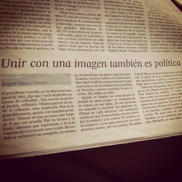 Articulo en El País. 26 de enero de 2012