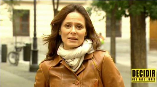 Aitana Sánchez-Gijón en la campaña ¿quiénes son las mujeres que abortan?