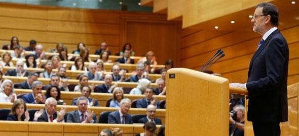 Mariano Rajoy, durante su intervención sobre Bárcenas (Fuente: PP.es)