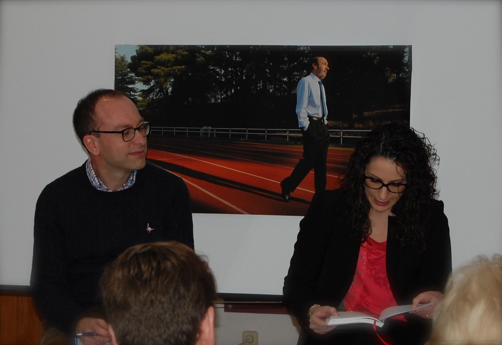 Con Paco Seoane en la presentación de Argamasilla de Calatrava