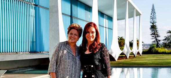 Dilma Rousseff y Cristina Fernández de Kirchner. (Wikipedia)