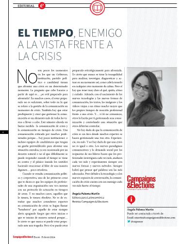 Nº 37 de Campaigns & Elections en español. Enero - Febrero 2014