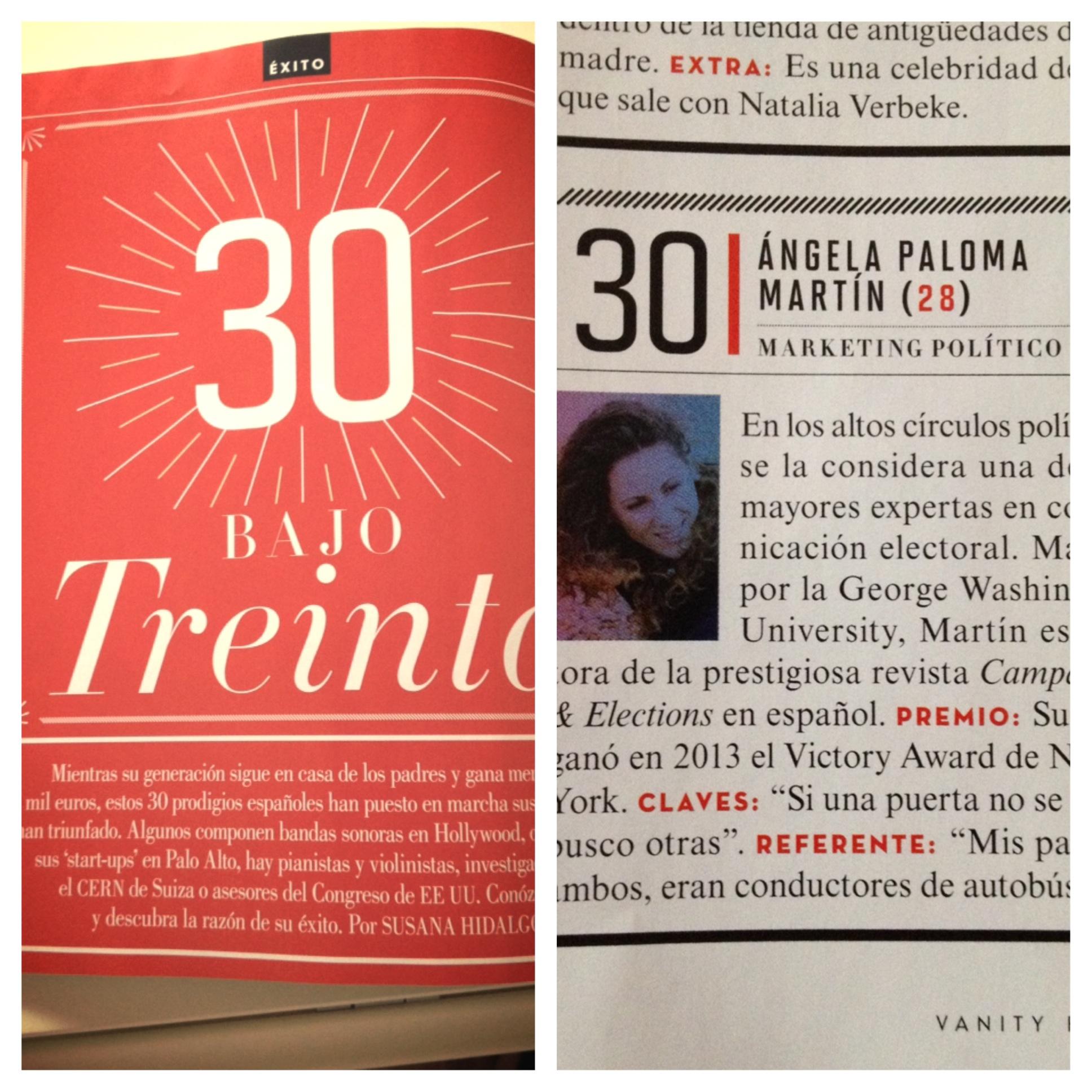 Reportaje de Vanity Fair. Por Susana Hidalgo. Págs. 72-77