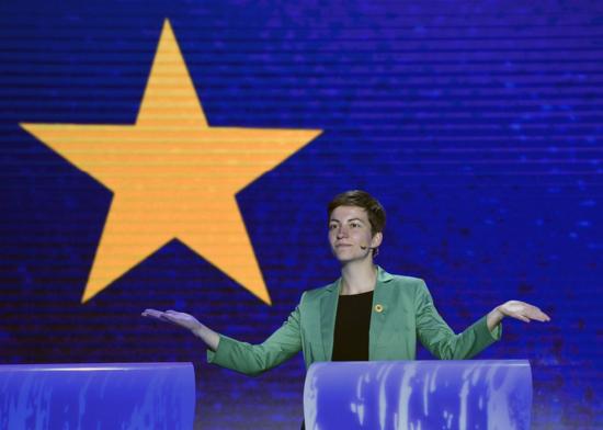 La candidata 'verde' Ska Keller, en el debate en Bruselas. JOHN THYS (AFP)