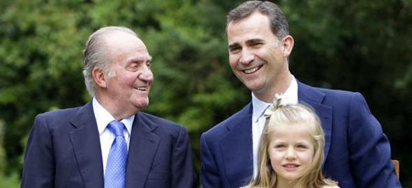 Juan Carlos I, Felipe VI y la princesa Leonor (Fuente: Zarzuela)