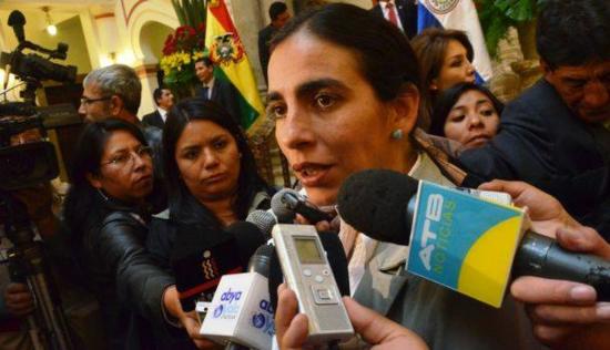 Gabriela Montaño, senadora en Bolivia