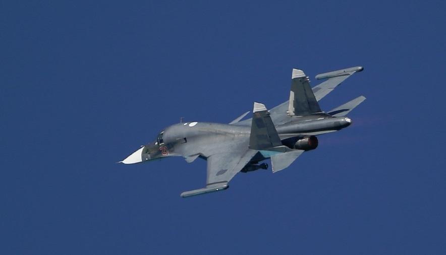 Un caza ruso que participa en la ofensiva contra el EI en Siria. EP