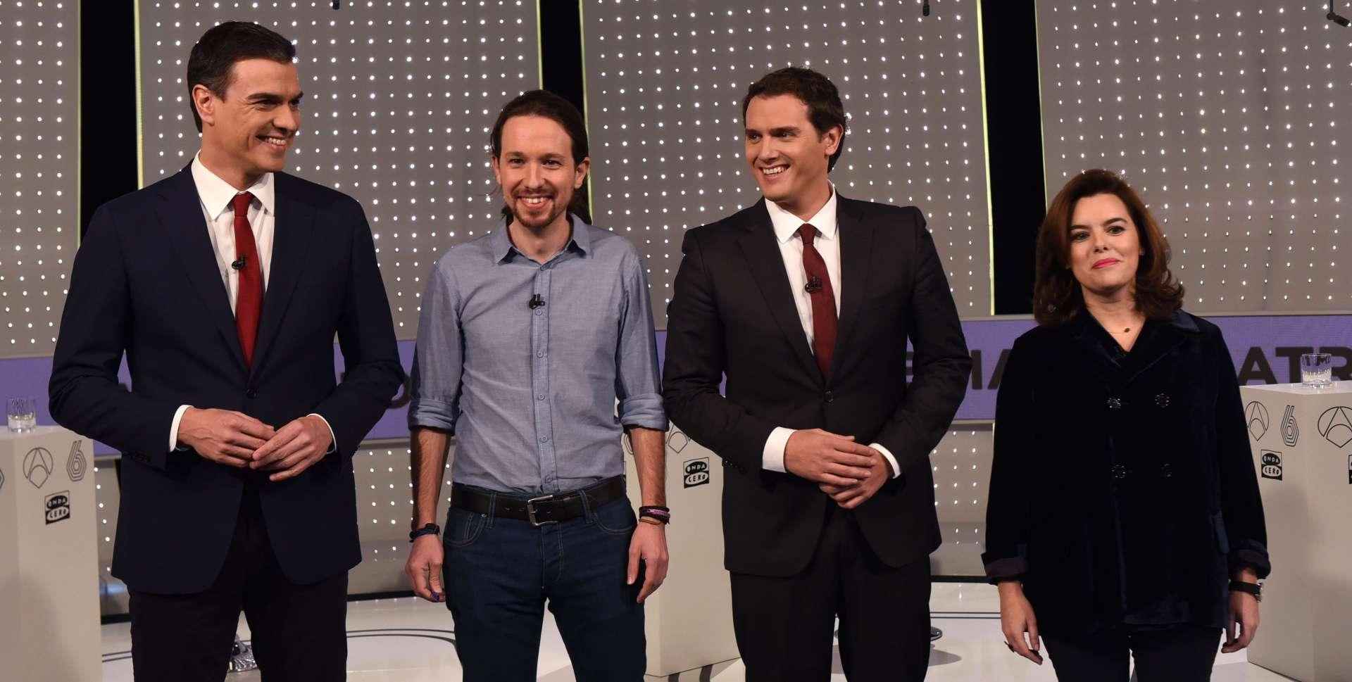 Los participantes en el debate electoral organizado por Atresmedia. EP